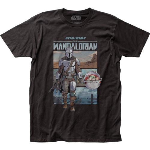 Image for Star Wars T-Shirt - The Mandalorian Mando Traveling
