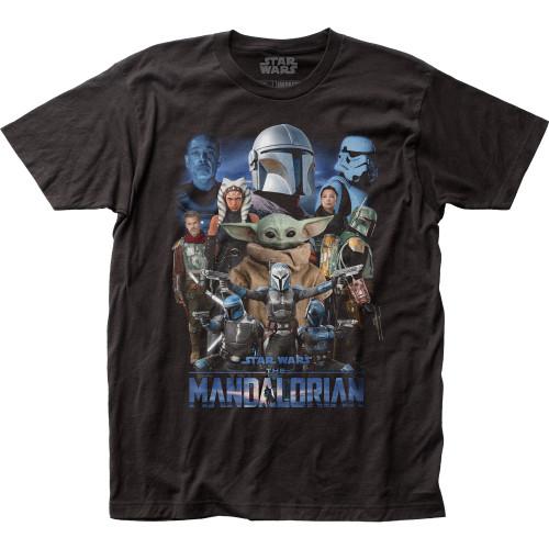 Image for Star Wars T-Shirt - The Mandalorian Mondo Collage