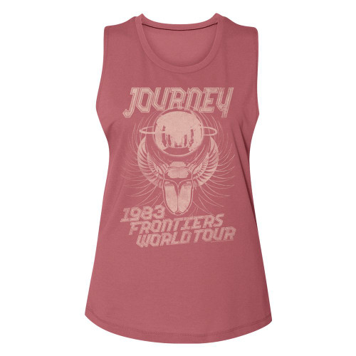 Image for Journey 1983 Frontiers World Tour Ladies Muscle Tank Top