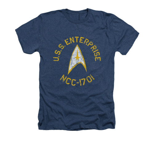 Image for Star Trek Heather T-Shirt - Collegiate