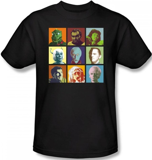 Image Closeup for Star Trek T-Shirt - Alien Squares