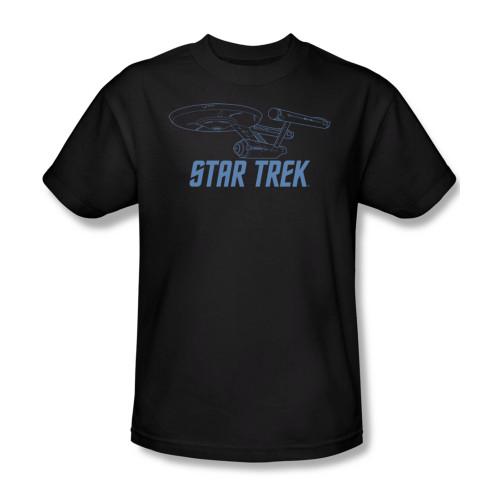 Image for Star Trek T-Shirt - Enterprise Outline