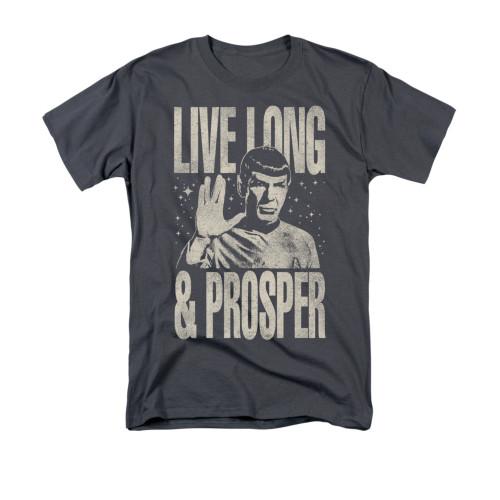 Image for Star Trek T-Shirt - Monotone Live Long & Prosper