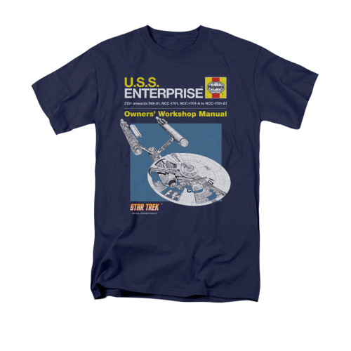 Image for Star Trek T-Shirt - Haynes Enterprise Owners Manual