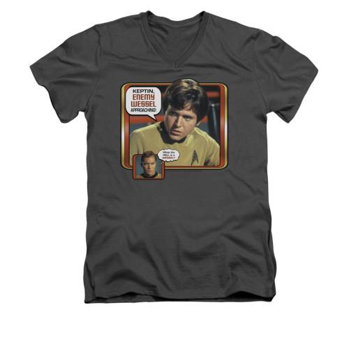 Image for Star Trek V Neck T-Shirt - Enemy Wessel