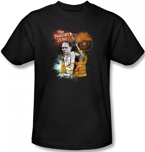 Image Closeup for Twilight Zone About to Enter T-Shirt