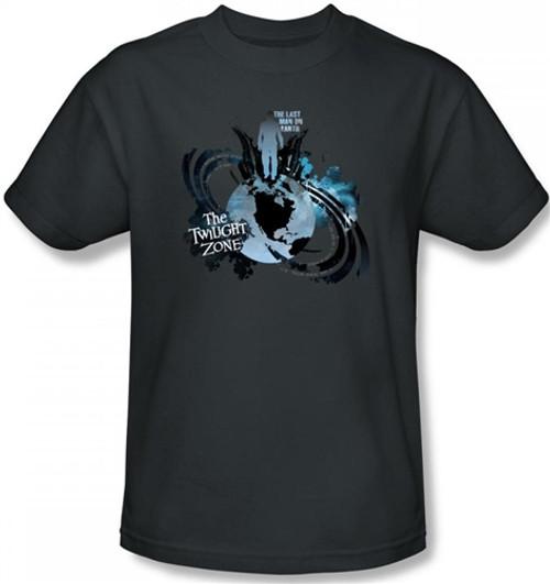Image Closeup for Twilight Zone Last Man on Earth T-Shirt