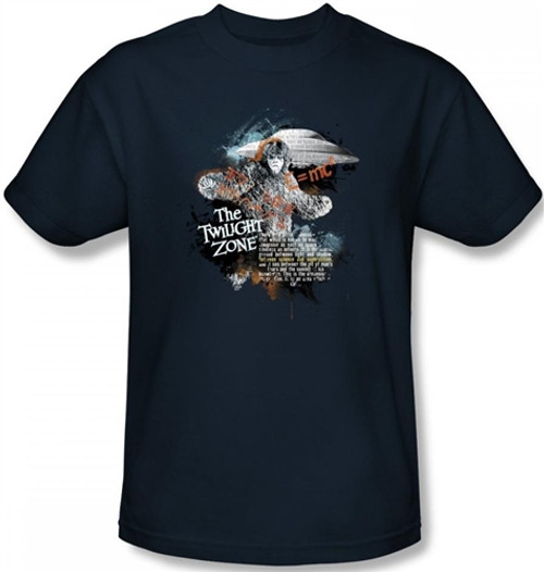 Image Closeup for Twilight Zone Science & Superstition T-Shirt