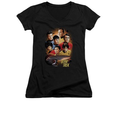 Image for Star Trek Girls V Neck - Heart of the Enterprise