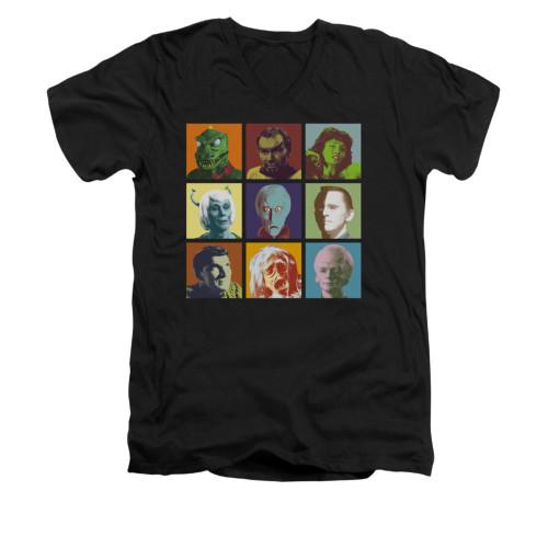 Image for Star Trek V Neck T-Shirt - Alien Squares