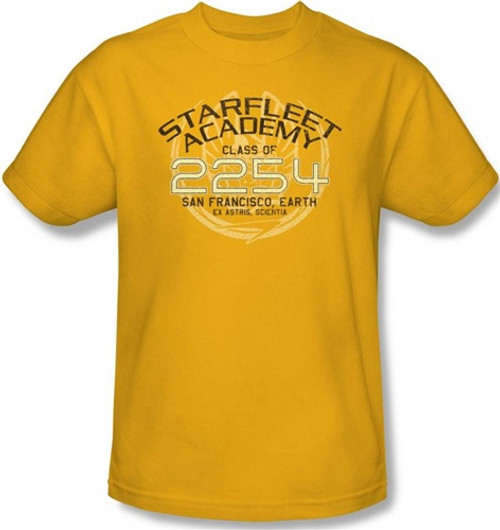 Image Closeup for Star Trek T-Shirt - Starfleet Academy Kirk Graduation