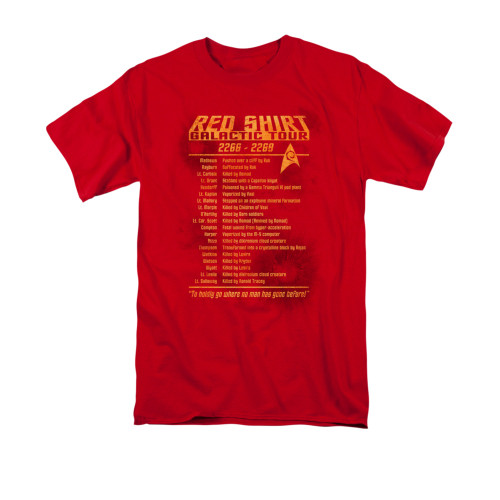 Image for Star Trek T-Shirt - Red Shirt Galactic Tour