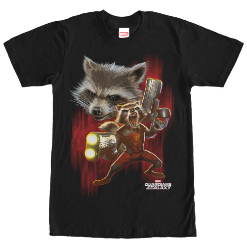 Image for Guardians of the Galaxy Twisted Rocket T-Shirt