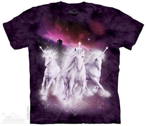 Image for The Mountain T-Shirt - Cosmic Unicorn