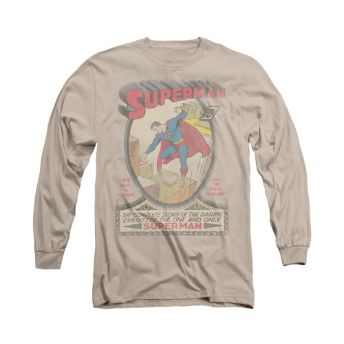 Image for Superman Long Sleeve Shirt - Distressed 1