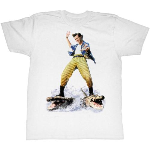 Image for Ace Ventura Pet Detective T-Shirt - Croc Surfin'