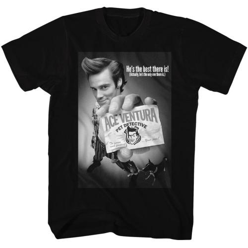 Image for Ace Ventura Pet Detective T-Shirt - Black and Black Poster
