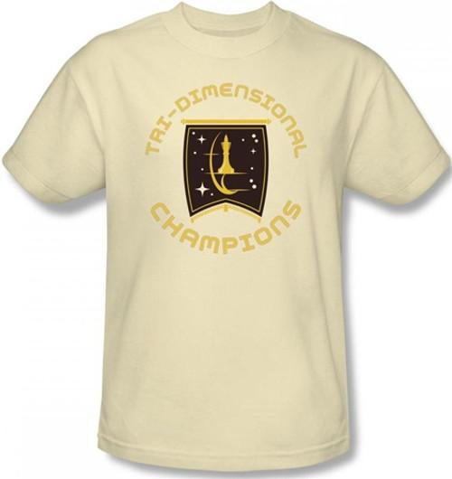 Image Closeup for Star Trek T-Shirt - Starfleet Academy Tri-Dimensional Champs