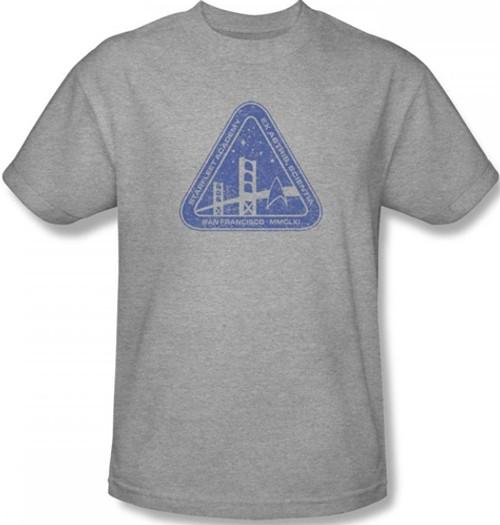 Star Trek White Academy Logo Adult Work Shirt