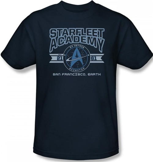 Image Closeup for Star Trek T-Shirt - Starfleet Academy San Francisco, Earth