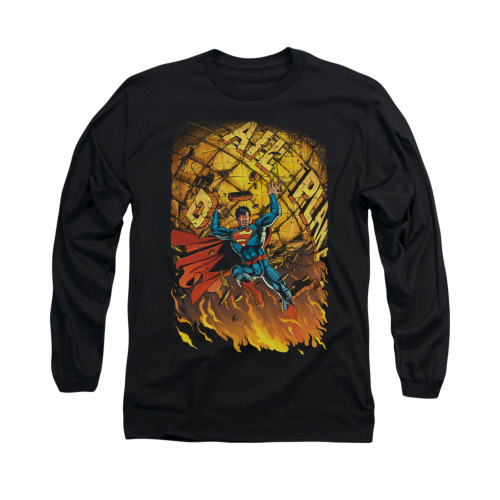 Image for Superman Long Sleeve Shirt - Daily Planet Save