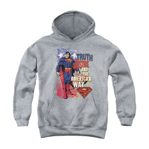 Image for Superman Youth Hoodie - Truth Justice