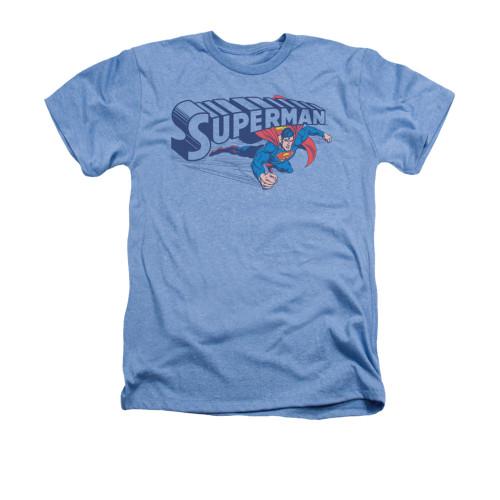 Image for Superman Heather T-Shirt - Under Logo
