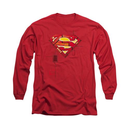 Image for Superman Long Sleeve Shirt - Super Mech Shield