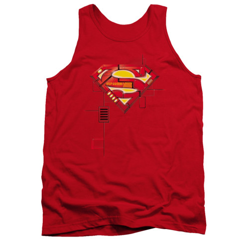 Image for Superman Tank Top - Super Mech Shield