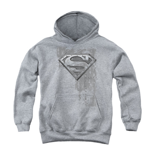 Image for Superman Youth Hoodie - Riveted Metal
