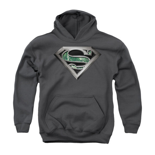 Image for Superman Youth Hoodie - Circuitry Logo