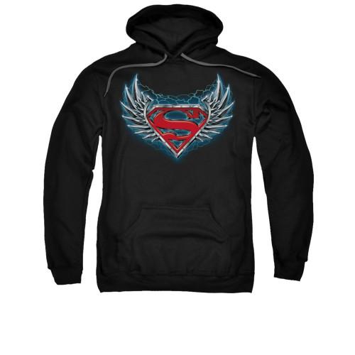 Image for Superman Hoodie - Steel Wings Logo