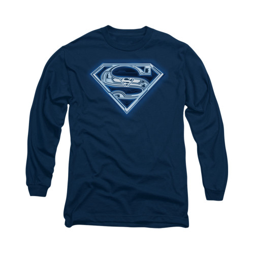 Image for Superman Long Sleeve Shirt - Cyber Shield
