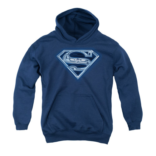 Image for Superman Youth Hoodie - Cyber Shield