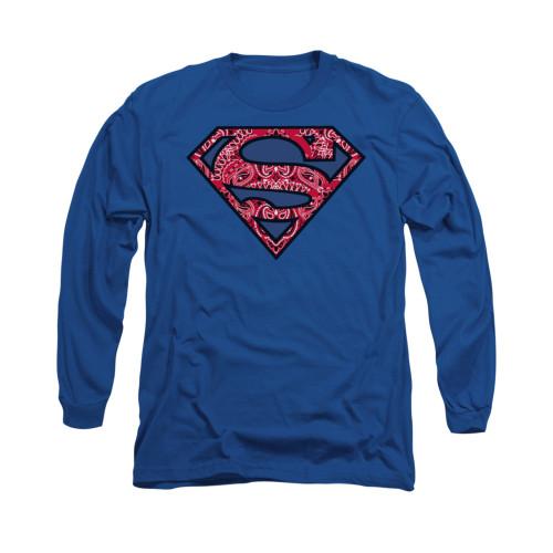Image for Superman Long Sleeve Shirt - Paisley Shield