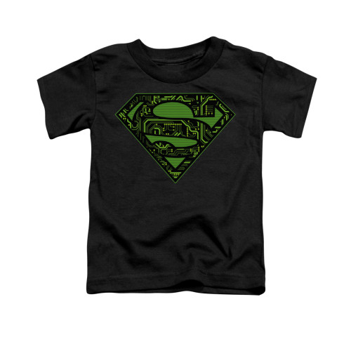 Image for Superman Toddler T-Shirt - Circuits Shield