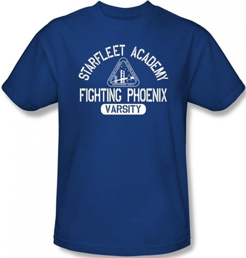Image Closeup for Star Trek T-Shirt - Starfleet Academy Fighting Phoenix Varsity
