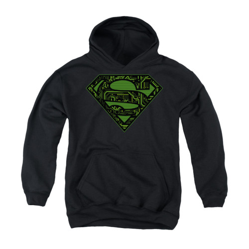 Image for Superman Youth Hoodie - Circuits Shield