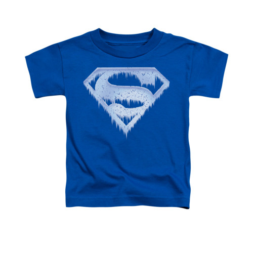 Image for Superman Toddler T-Shirt - Ice And Snow Shield
