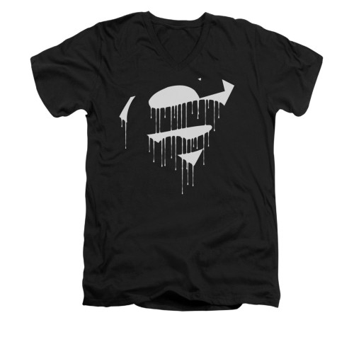 Image for Superman V Neck T-Shirt - Dripping Shield