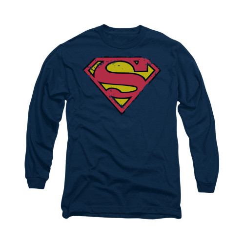 Image for Superman Long Sleeve Shirt - Distressed Shield