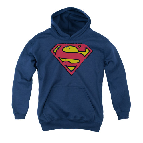Image for Superman Youth Hoodie - Distressed Shield