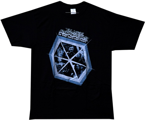 Image Closeup for Buck Rogers in the 25th Century Hexagon T-Shirt