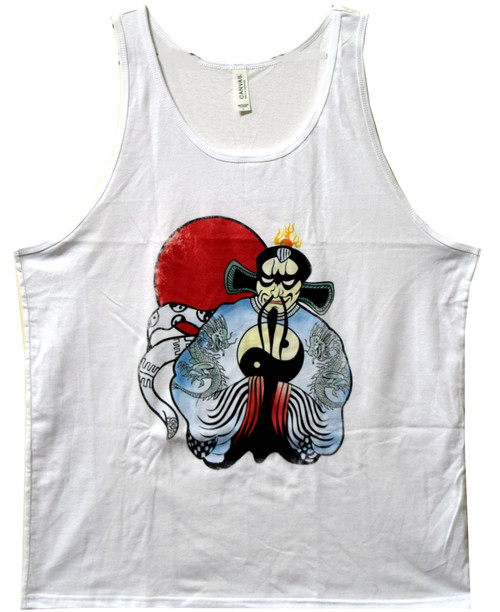 Image Closeup for Chinatown Trucker Tank Top