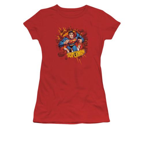 Image for Superman Girls T-Shirt - Sorry About The Wall