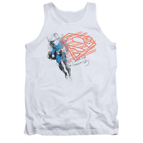 Image for Superman Tank Top - Super American Flag