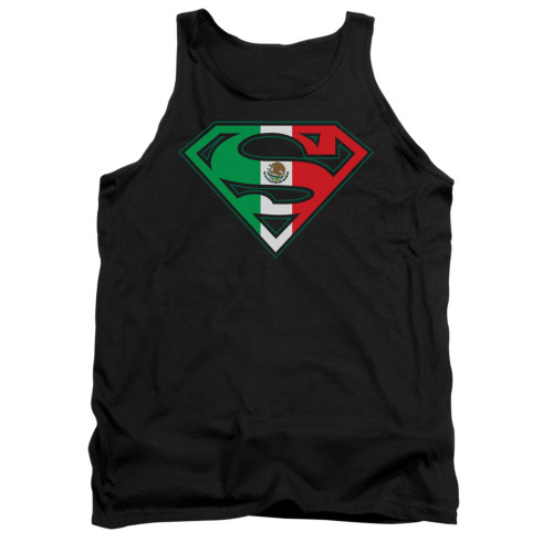 Image for Superman Tank Top - Mexican Flag Shield