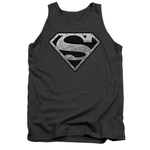 Image for Superman Tank Top - Super Metallic Shield