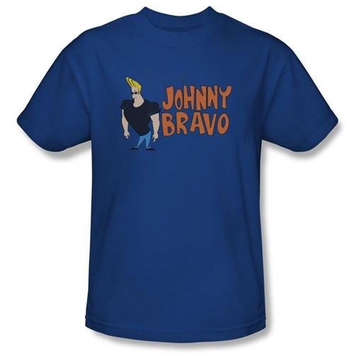 Image Closeup for Johnny Bravo Logo T-Shirt CN116-AT