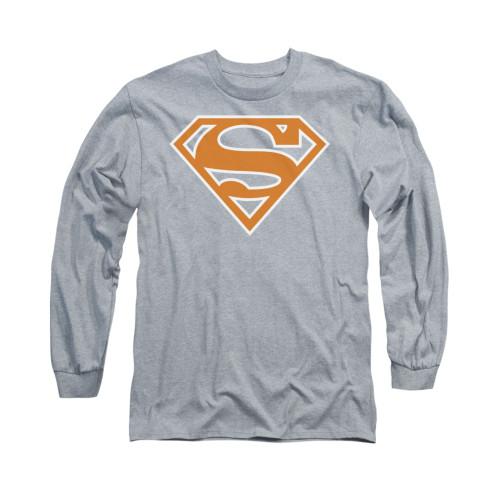 Image for Superman Long Sleeve Shirt - Burnt Orange&white Shield